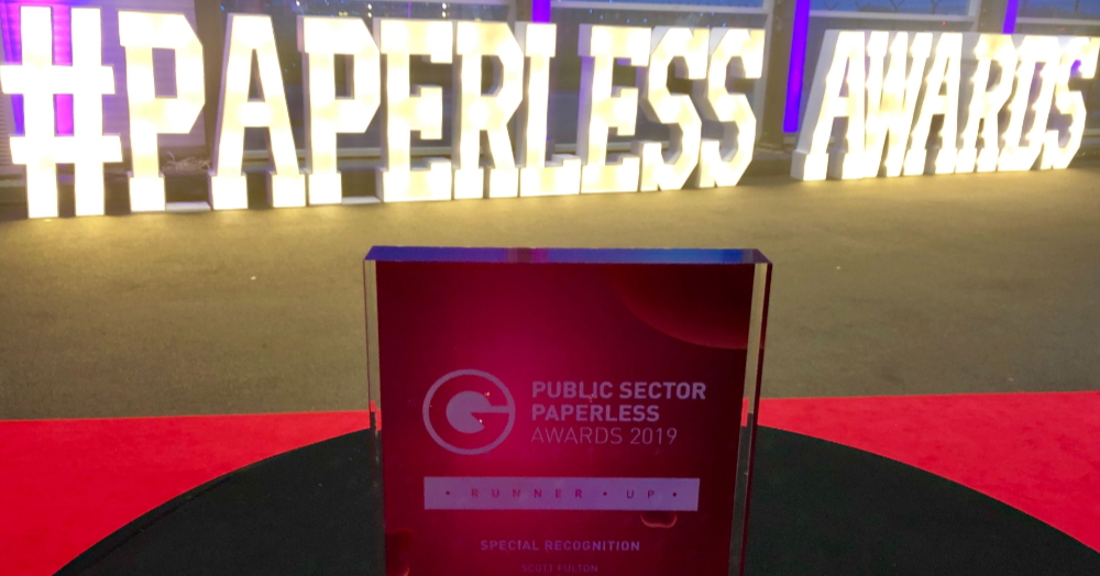Paperless Award for Special Recognition